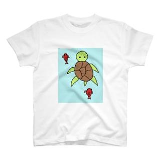 カメッコはじめての友達(ビッグ) T-shirts