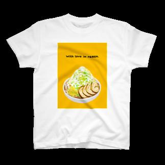 よしたけ@全力でリアクションするねこのラーメンTシャツA T-shirts