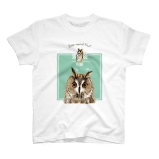 ぴーんっとトラフズク T-shirts