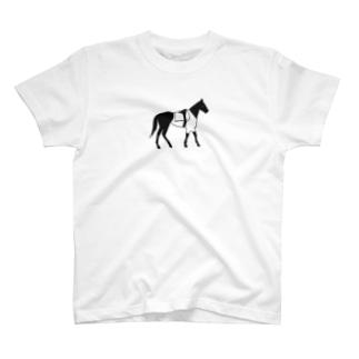 馬のシロT T-shirts