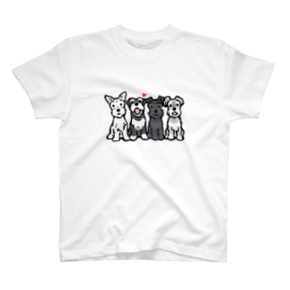 シュナウザーカルテット T-shirts