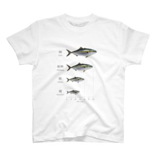 出世魚「鰤(ブリ)」 ver.関東 T-shirts