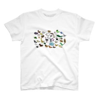 「ゆるどうぶつの行進」 T-shirts