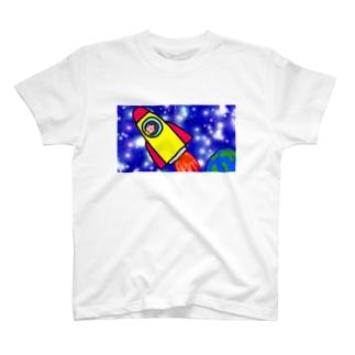 宇宙びゅーんTシャツ T-shirts