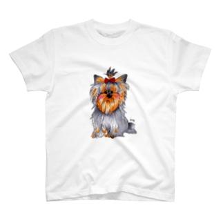 ヨークシャテリアTシャツ T-shirts