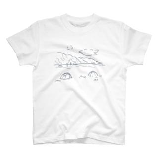 マウントクックの麓で T-shirts