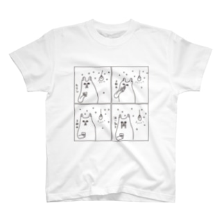 泣いちゃう4コマ T-shirts