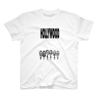 HOLLYWOOD(ブラック&ホワイト) T-shirts