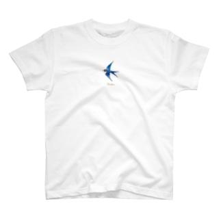 幸せの青いつばめ T-shirts