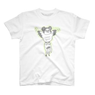 色の薄いカンムリクマタカ T-shirts