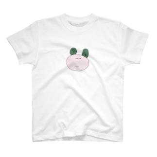 みみがわかめのうさぎ(おおきく) T-shirts