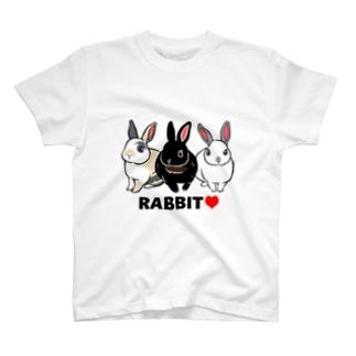 3羽のうさぎ T-shirts