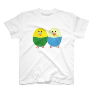 たまご型インコさん(カップル) T-Shirt