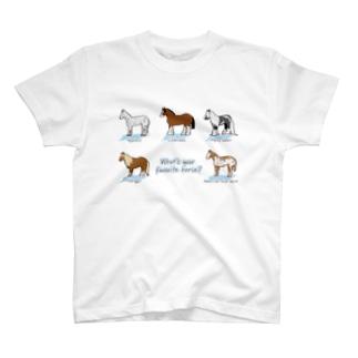 世界の馬たち① Tシャツ(全3色) T-shirts