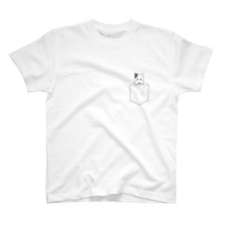 ポケット柄 チウッチ・ウッチ T-shirts