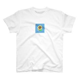 お花のアイコン T-shirts