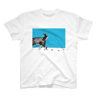 くろしばのろくすけ(シッポ) T-shirts