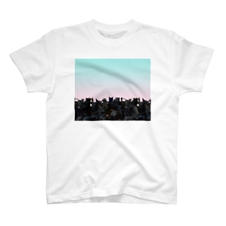 爽やかな黒猫 T-shirts