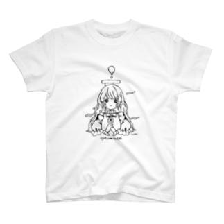 umiのoyasuminasaiてんしちゃん_ロング T-shirts