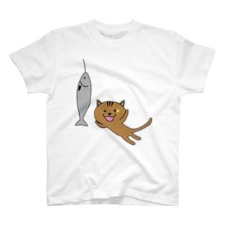 チャンス猫 T-shirts