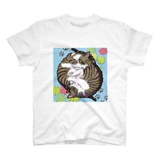 くるくる猫たち T-shirts