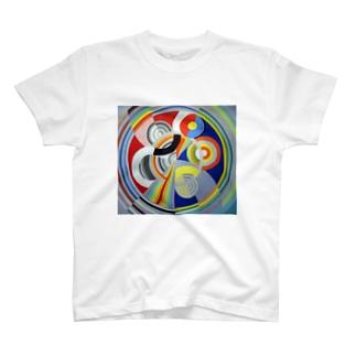 ロベール・ドローネー 《リズム No.1》 T-shirts