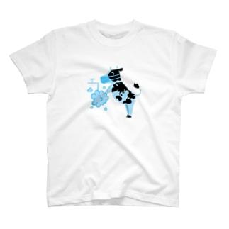 マスク手洗いウシさん T-shirts