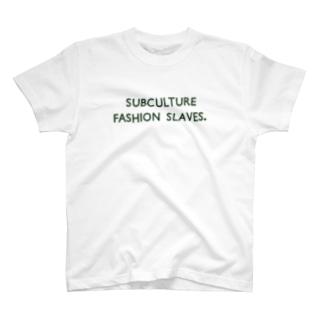 SUBCULTURE FASHION SLAVES. T-shirts