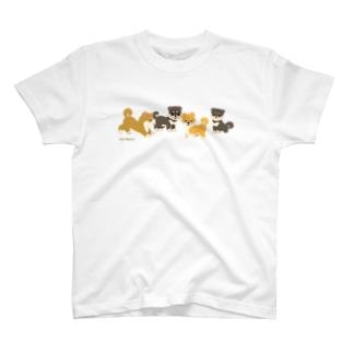柴犬くんC (みやかわさとこ) T-shirts