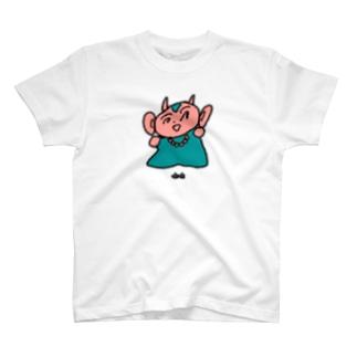 かわいいつのざる T-shirts