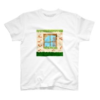 窓辺のねこたち T-shirts