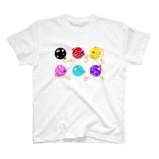 6色のヨーヨー T-Shirt