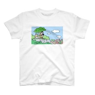丘の上の田舎の少年3人 T-shirts