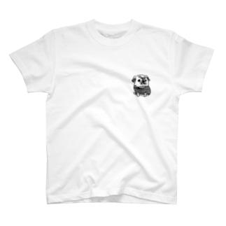 パグのミニPecoちゃん T-shirts