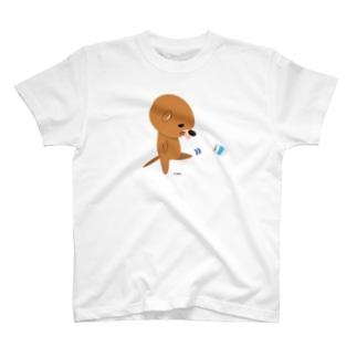 カワカワがもじもじ T-shirts