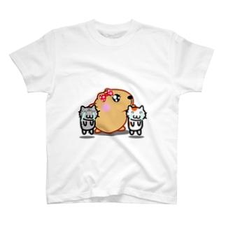 きゃぴばら女子部ゆるねこ【ごめん】 T-shirts