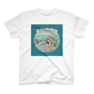きんぎょ緑 T-shirts