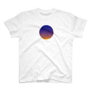 宵の空の星空Tシャツ T-shirts