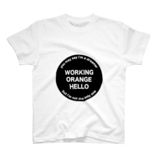 ワーキングオレンジハローTシャツ T-Shirt
