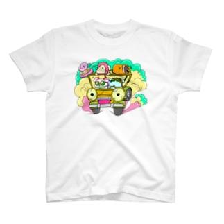 ドライブしちゃうよ。【カラー版】 T-shirts
