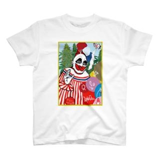 ピエロのりお落書き加工 T-shirts