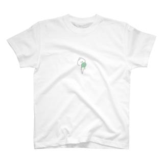 肉まん の ぬるまるくん が みどりのアイス食べてるTシャツだよ T-shirts