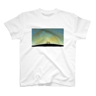 自転車と夜空 T-shirts