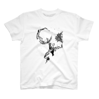 猫と模様 T-Shirt