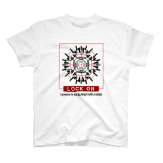 ロックオン(レッド) T-shirts