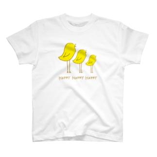 Happyな鳥 T-shirts