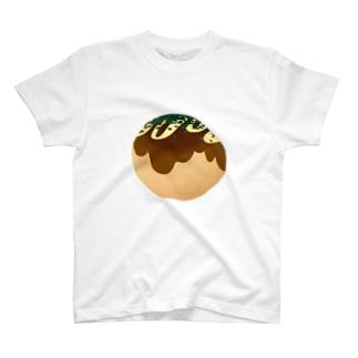 宙に浮くたこ焼き T-shirts