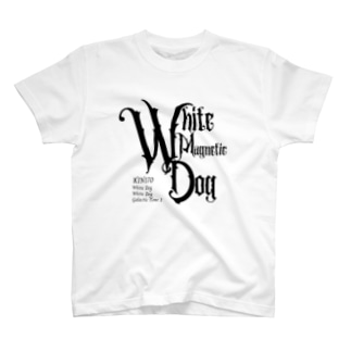 KIN170白い磁気の犬 T-shirts