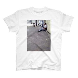 西成のおじさん T-shirts