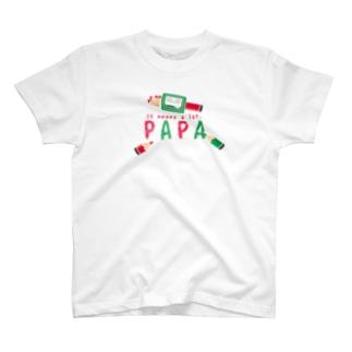 CT157 ちびた色鉛筆*PAPA*A T-shirts